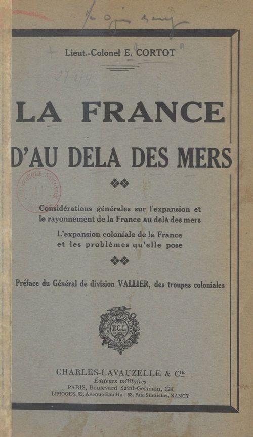 La France d'au-delà des mers