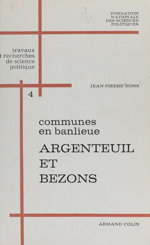 Communes en banlieue : Argenteuil et Bezons