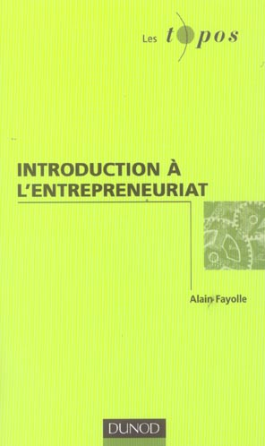 Introduction A L'Entrepreneuriat