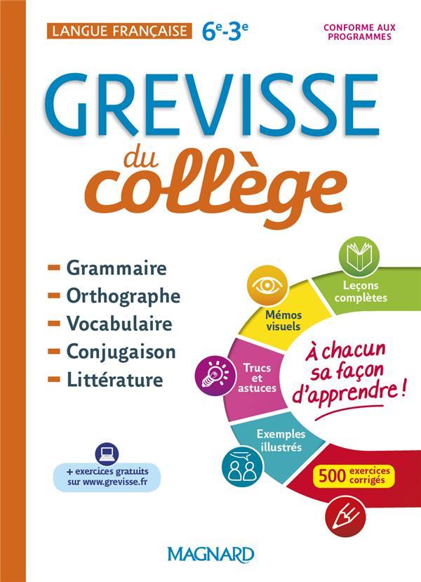 GREVISSE DU COLLEGE  -  LANGUE FRANCAISE  -  6E3E