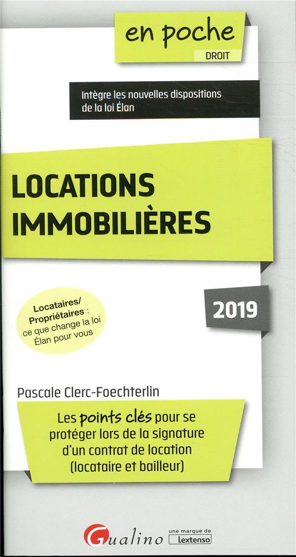 Locations immobilières (édition 2019)