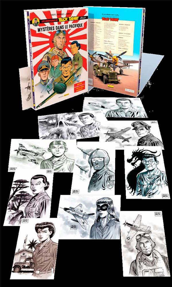 Les aventures de « Buck Danny » Classic ; COFFRET VOL.2 ; T.3 ET T.4 ; mystères dans le Pacifique