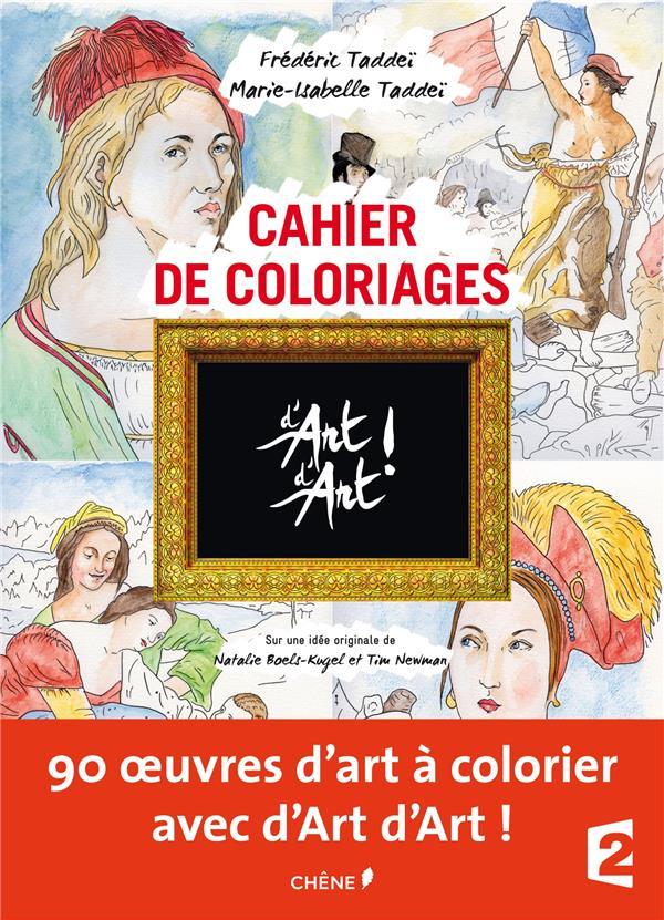 Cahier de coloriages ; d'art d'art