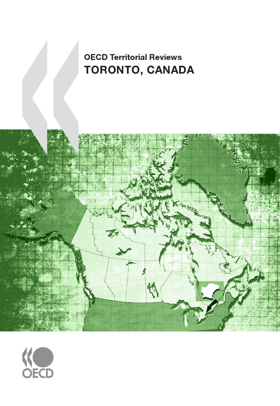 Oecd territorial reviews : toronto, canada 2009