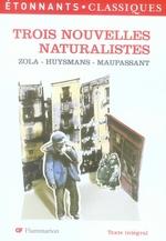 Couverture de Trois nouvelles naturalistes