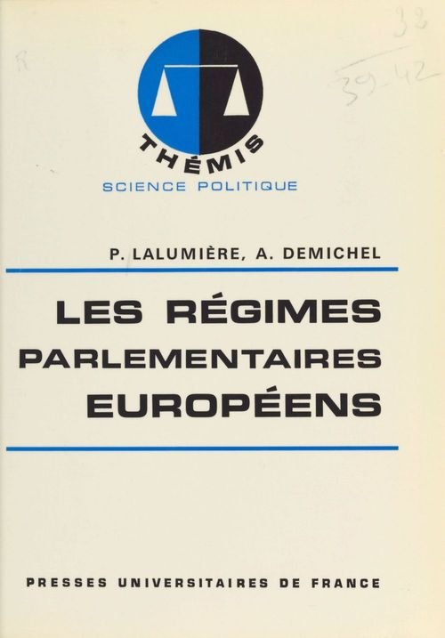 Vente EBooks : Regimes parlementaires europeens  - André Demichel  - Pierre Lalumière