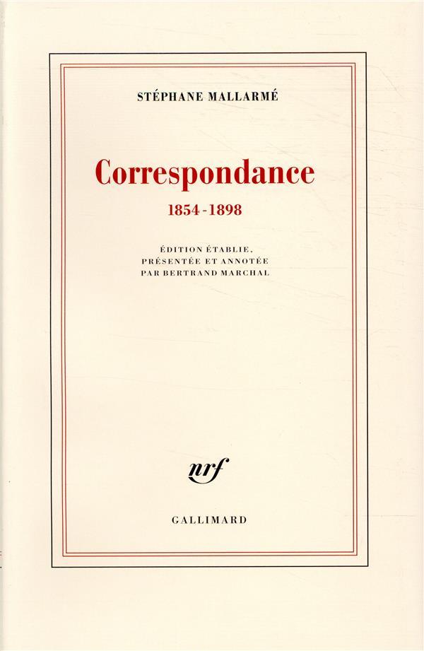 Correspondance ; 1854-1898