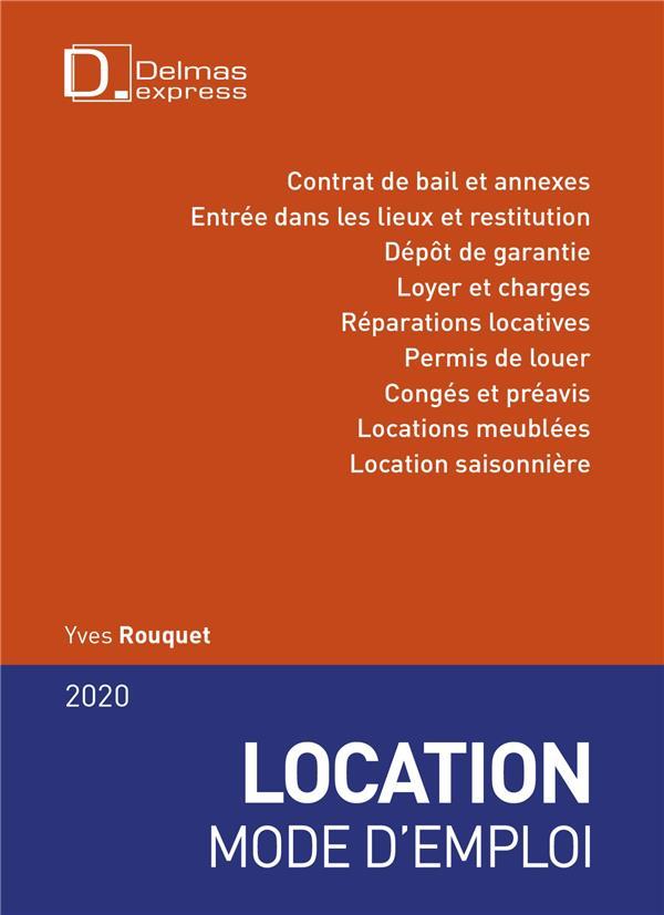 location mode d'emploi (édition 2020)