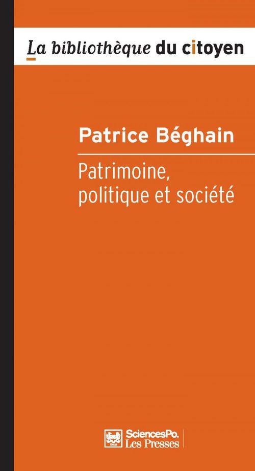 Patrimoine, politique et société (2e édition)