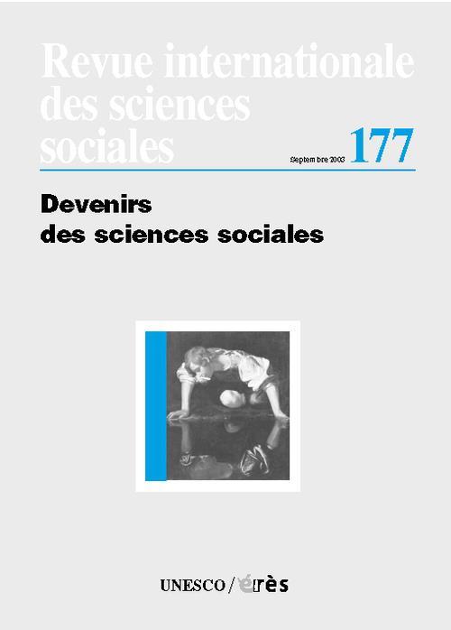 Riss t.177 ; devenirs des sciences sociales