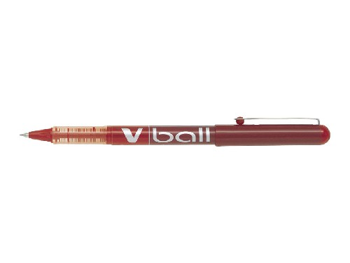 Roller encre liquide - PILOT® - V-Ball 05 - Rouge - Pointe fine