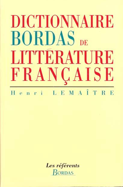 Dictionnaire Bordas de littérature française