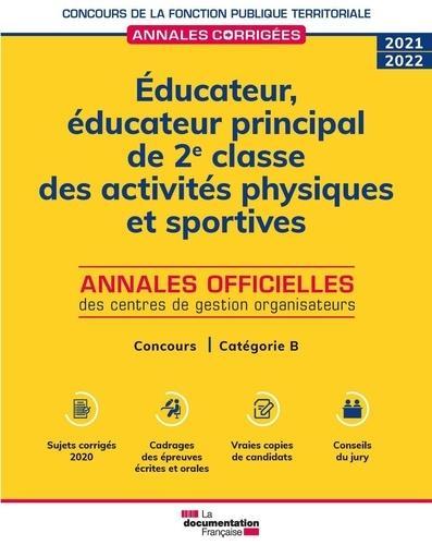 éducateur, éducateur principal de 2e et 1re classe des activités physiques et sportives (édition 2021/2022)