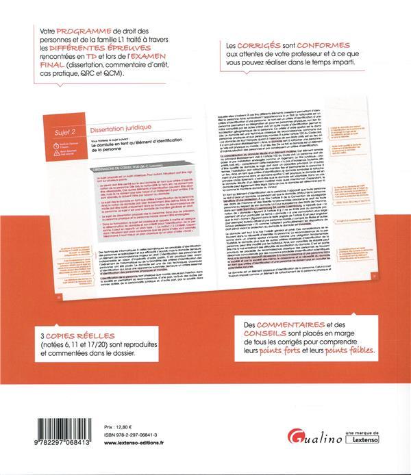 droit des personnes et de la famille ; licence 1 (édition 2019)