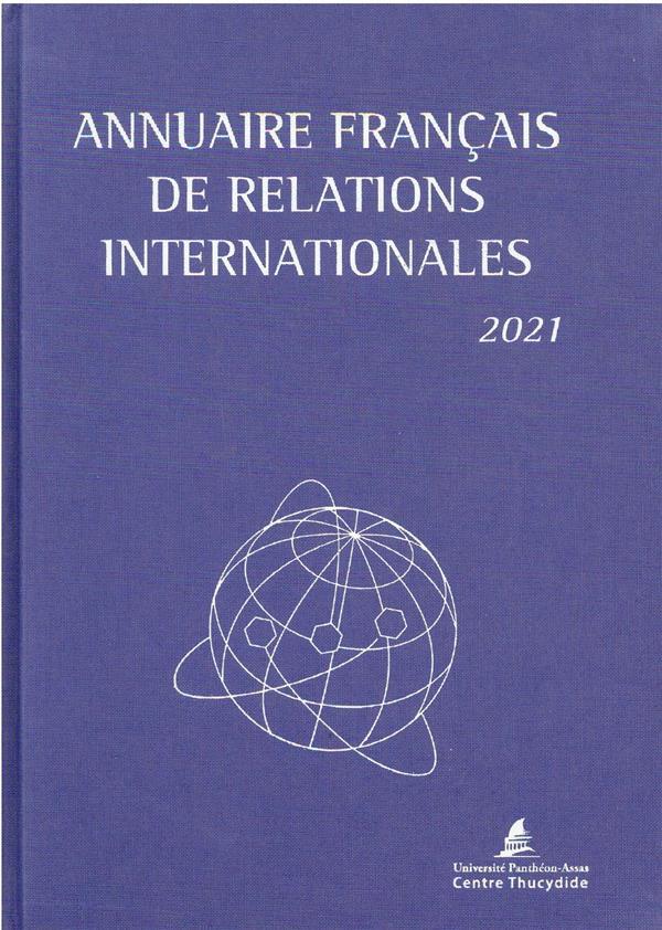Annuaire français des relations internationales (édition 2021)