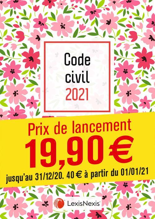Code civil ; petites fleurs (édition 2021)