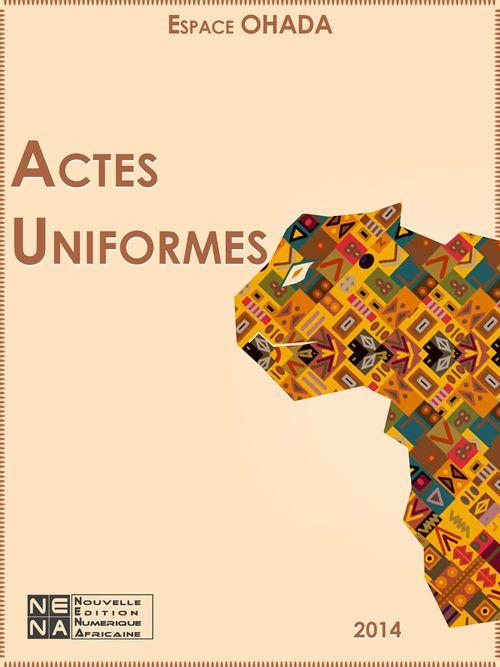 OHADA ; actes uniformes