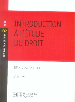 Introduction A L'Etude Du Droit