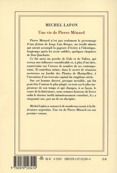 Une vie de Pierre Ménard