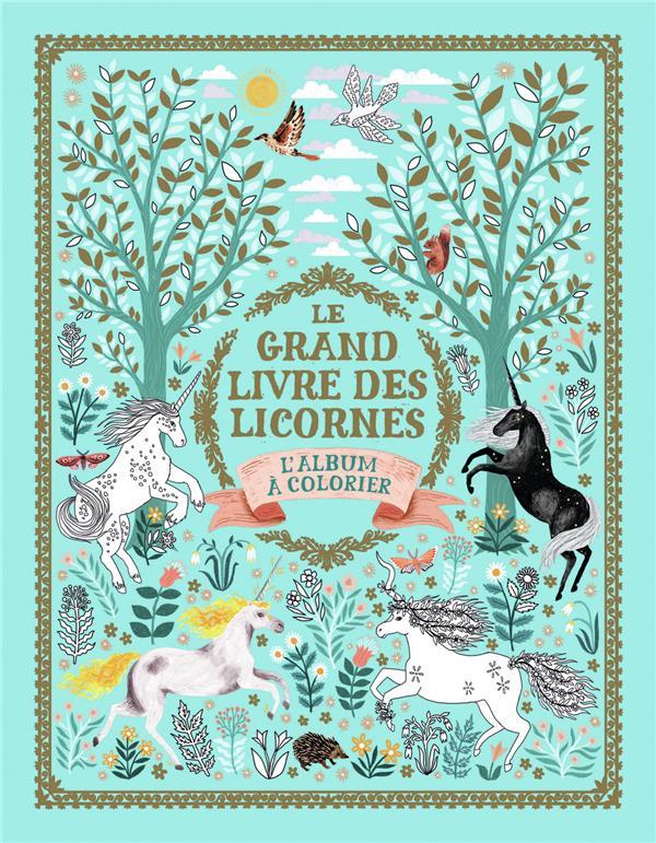 Le grand livre des licornes ; l'album à colorier