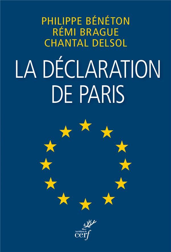 LA DECLARATION DE PARIS