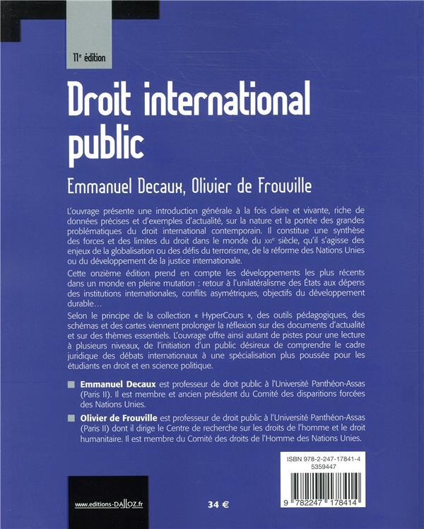 Droit international public (11e édition)