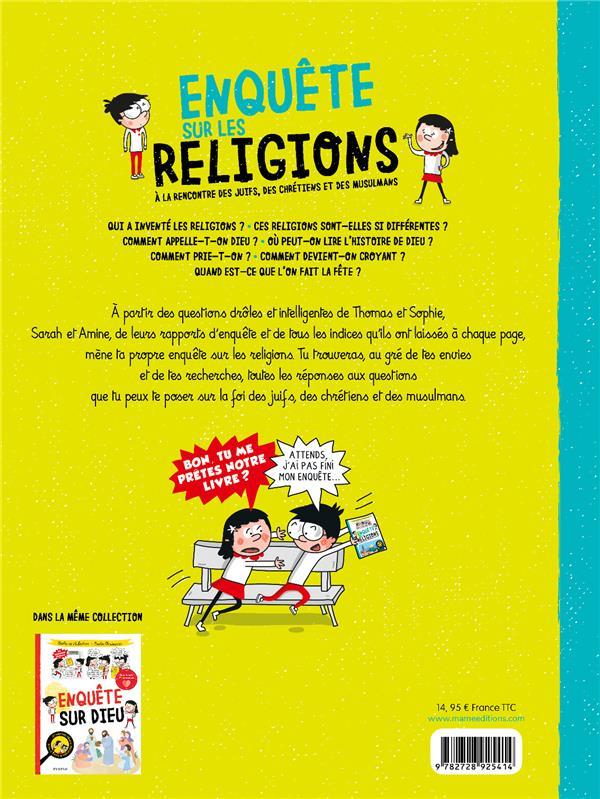 Les questions drôles et intelligentes de Thomas et Sophie ; enquête sur les religions