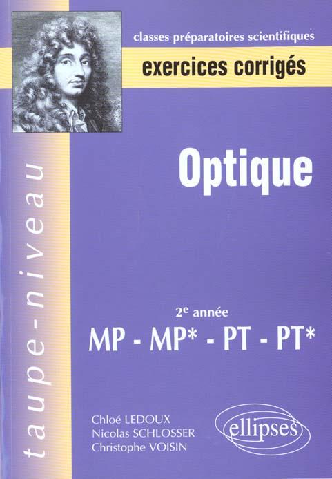 Optique Et Exercices Corriges Avec Rappel De Cours De Deuxieme Annee