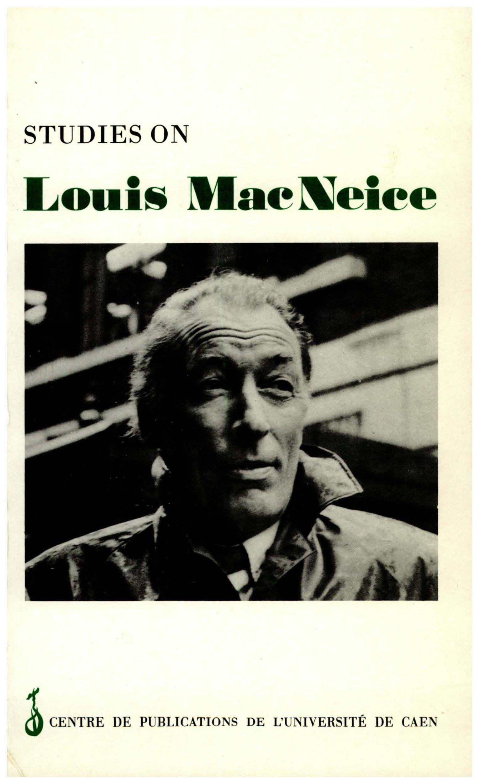 Studies on louis mac neice