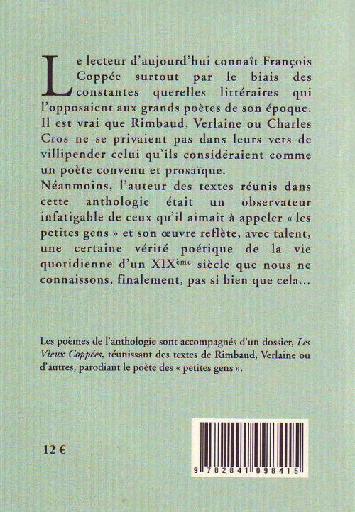 Je suis un pâle enfant du vieux Paris... anthologie