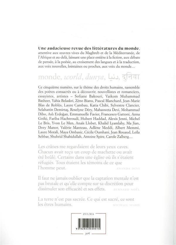 Apulée n.5 ; les droits humains