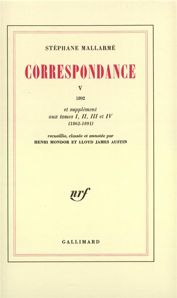 Correspondance - vol05 - 1892