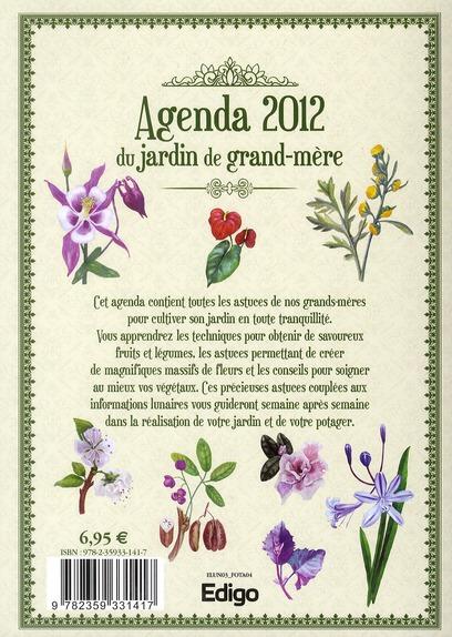 L'agenda 2012 du jardin de grand-mère