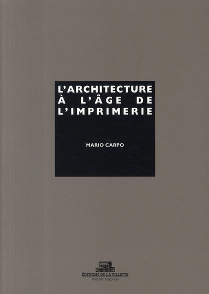 L'Architecture A L'Age De L'Imprimerie