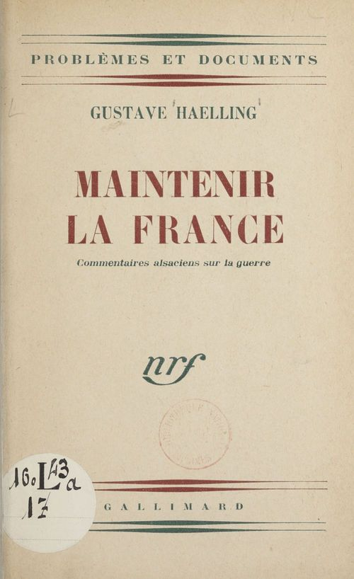 Maintenir la France
