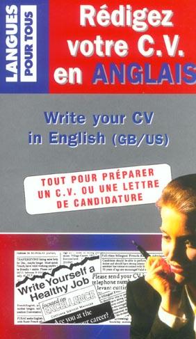 Redigez votre cv en anglais