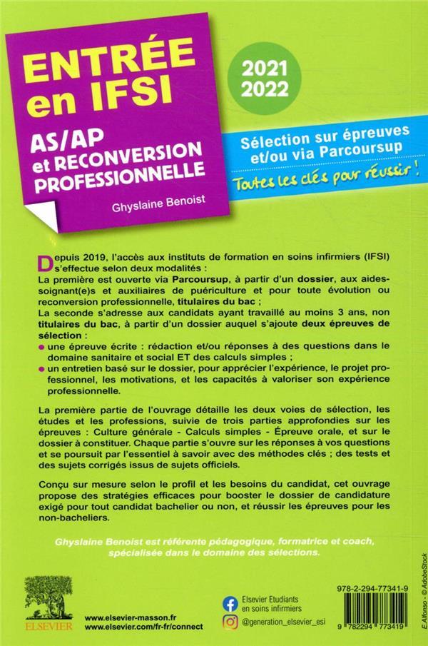 Entrée en IFSI ; AS/AP et reconversion professionnelle (édition 2021/2022)