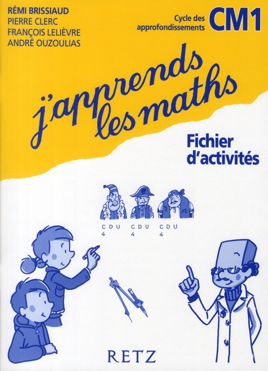 J'Apprends Les Maths Cm1 Cycle Des Approfondissements Fichier D'Activit{S
