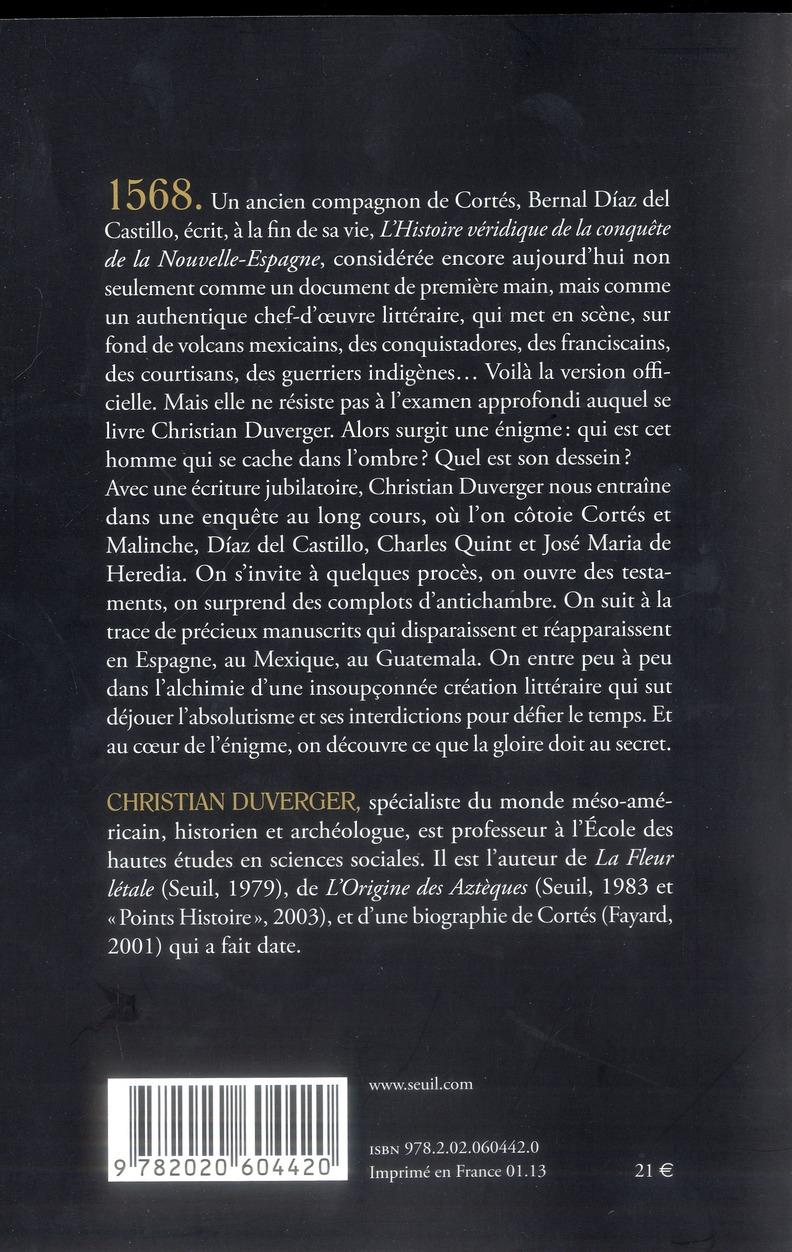 Cortes Et Son Double Enquete Sur Une Mystification Christian Duverger Seuil Grand Format Librairies Autrement