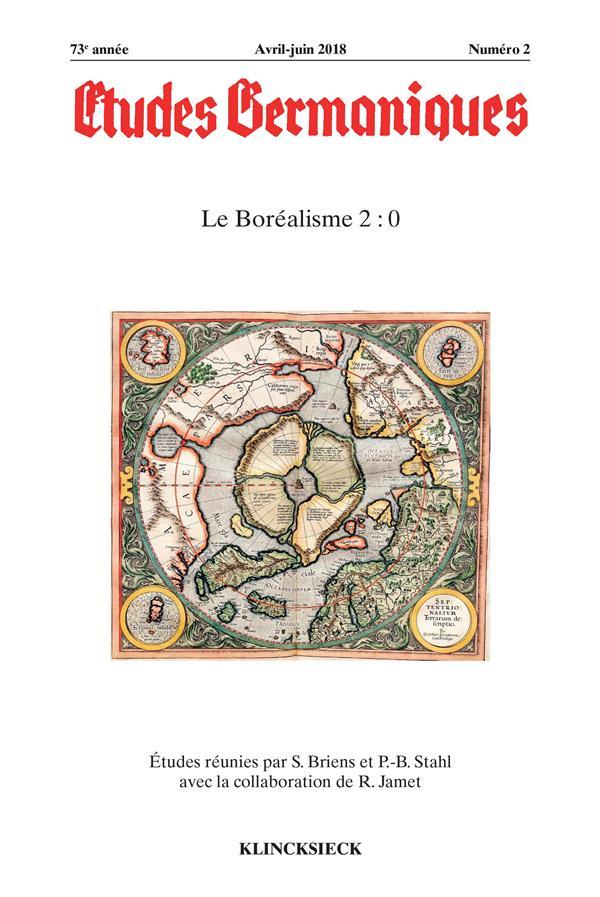 Revue etudes germaniques n.2 ; le borealisme 2 : 0 (edition 2018)