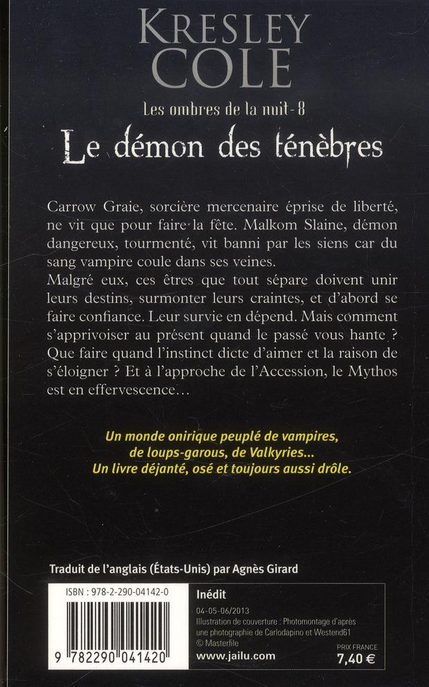 Les ombres de la nuit t.8 ; le démon de ténèbres