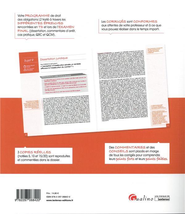 droit des obligations ; licence 2 (édition 2019)