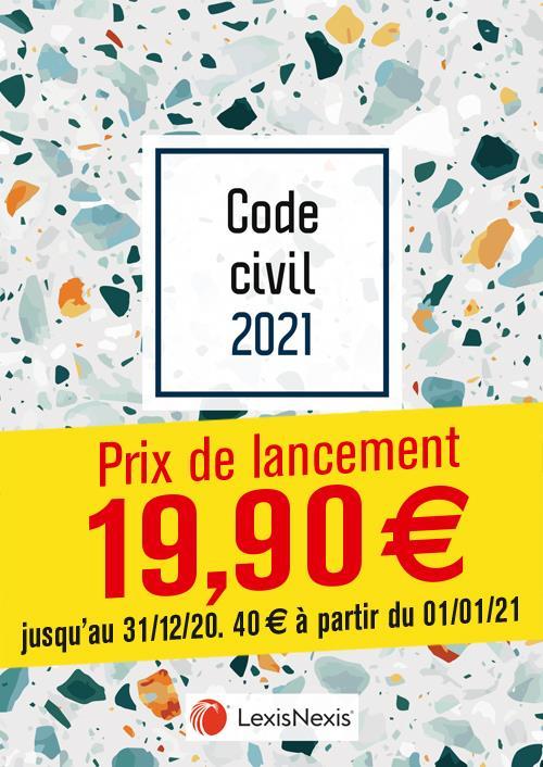 Code civil ; terrazzo (édition 2021)