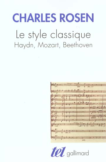 Le style classique - haydn, mozart, beethoven