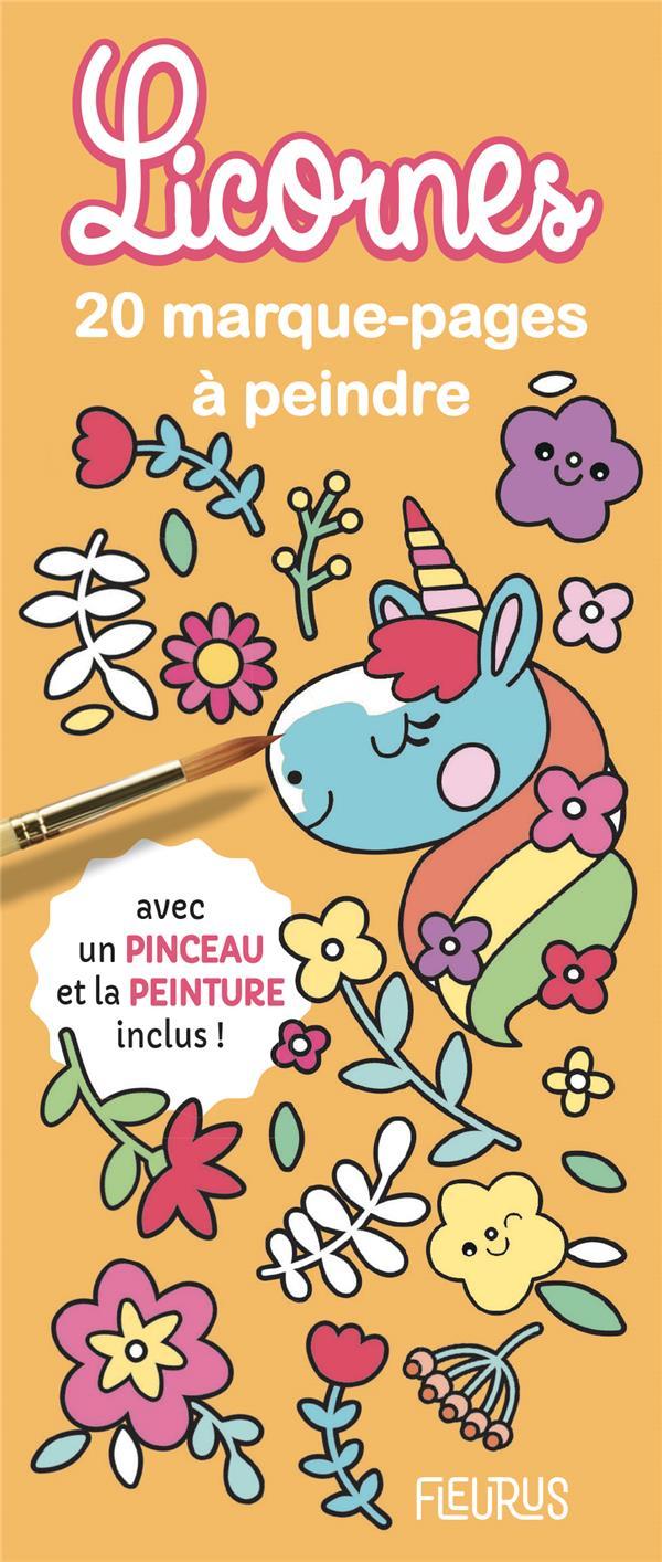 20 marque-pages à peindre ; licornes
