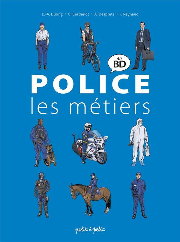 Police en bande dessinee ; les métiers