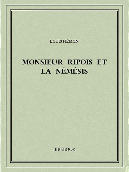 Monsieur Ripois et la Némésis