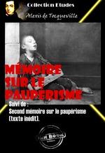 Vente Livre Numérique : Mémoire sur le paupérisme Suivi de : Second mémoire sur le paupérisme (texte inédit).  - Alexis de TOCQUEVILLE