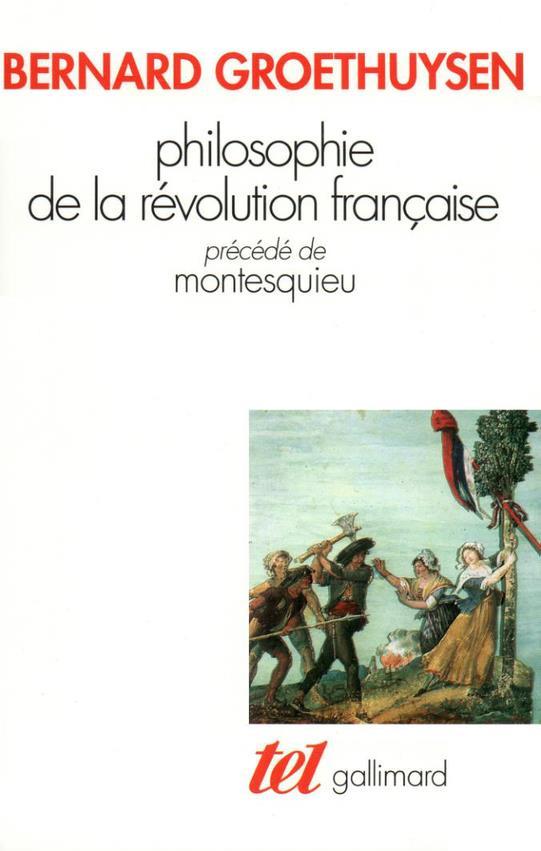 Philosophie de la révolution française ; Montesquieu