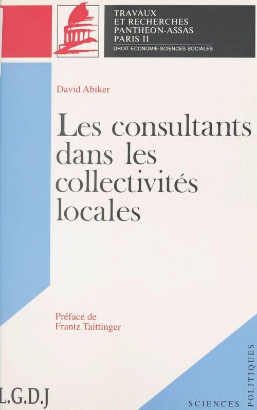 Les consultants dans les collectivités locales
